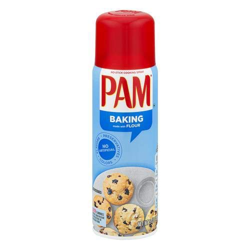 Pam Canola Oil Baking Spray with Flour Pack of 4