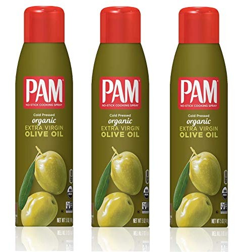 Pam Organic Olive Oil Cooking Spray 5oz Can Pack of 3