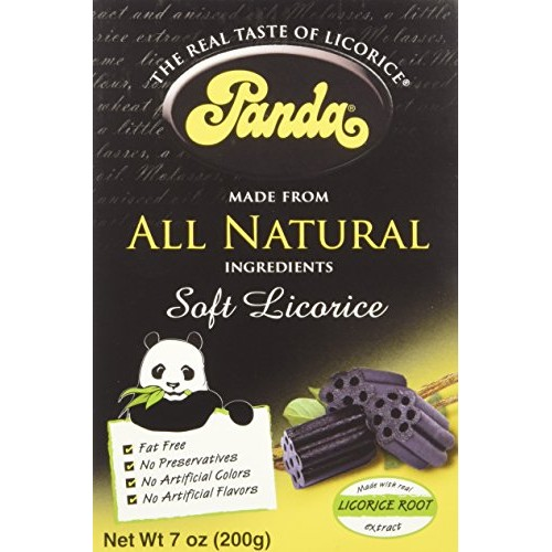 Panda Licorice, Licorice Chews, 7-Ounce Bags Pack of 12