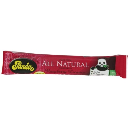 Panda All Natural Raspberry Licorice Bar, 1-1/8-Ounce Units Pac...