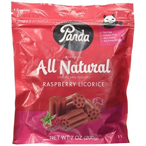 Panda Raspberry Licorice 7oz licorice pieces