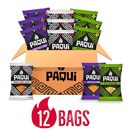 Paqui Spicy Hot Tortilla Chips Variety Pack, 12Pk Box Of 2.0oz S...