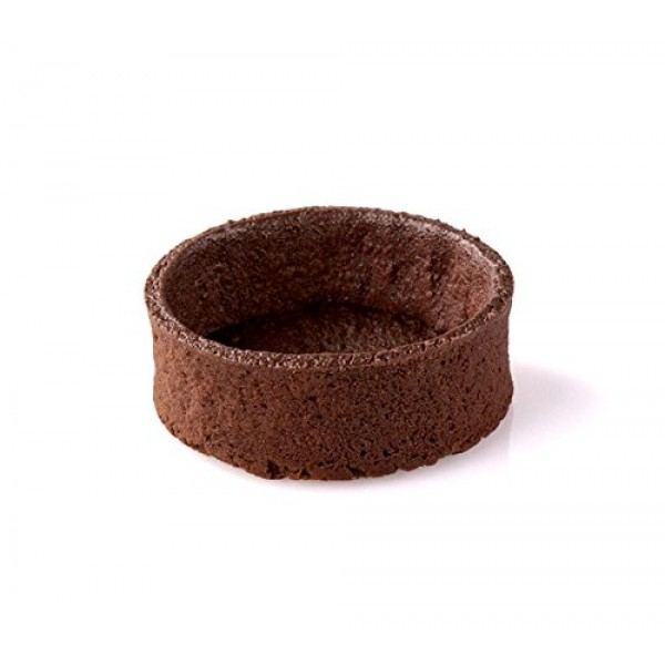Chocolate Round Tart Shell Straight Edge Coated Inside with Coco...
