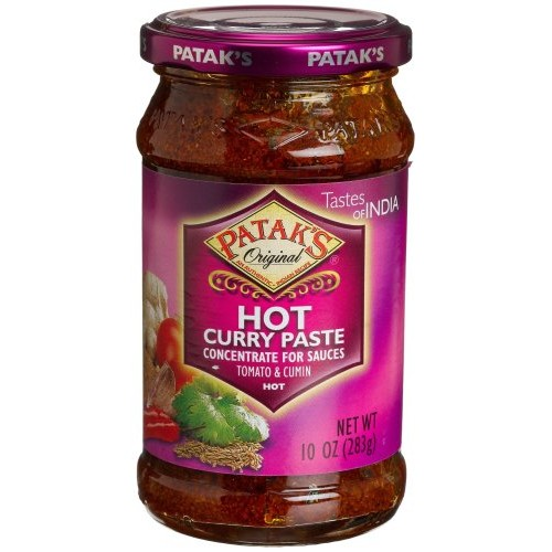 Pataks Hot Curry Paste, Hot, 10-Ounce Glass Jars Pack of 6