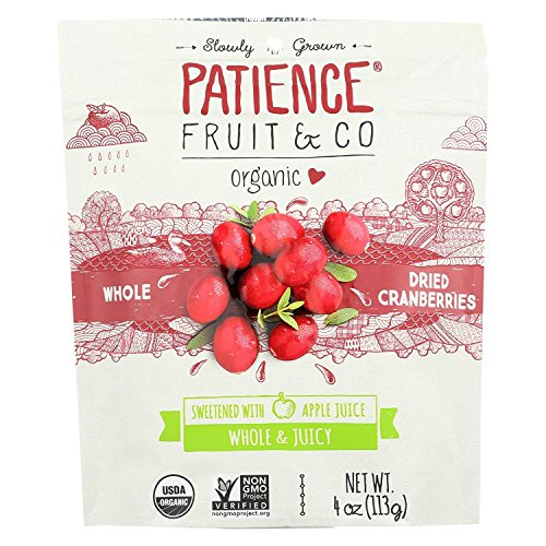 PATIENCE FRUIT & CO, CRANBERRIES, WHL, DIRED - Pack of 8
