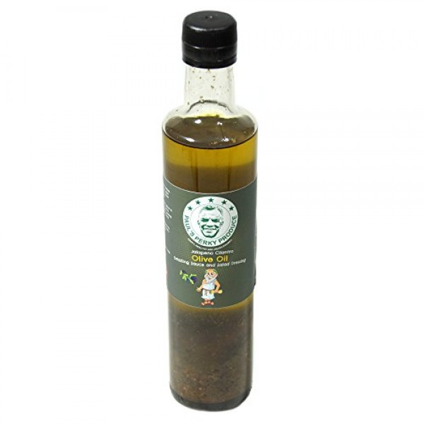 Jalapeno Cilantro Olive Oil - Drizzling Sauce and Salad Dressing