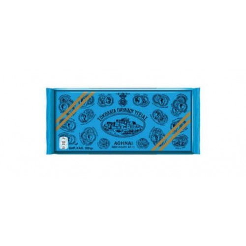 Pavlidou Greek Traditional Dark Chocolate Bars Ygeias - 10 X 100g