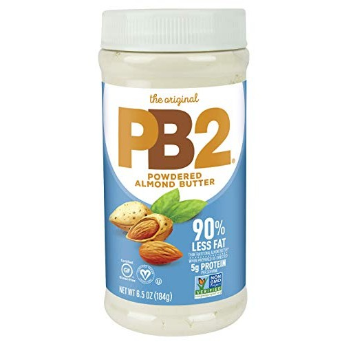PB2 Powdered Almond Butter, 6.5oz Low-Fat Vegan Almond Powder, L...
