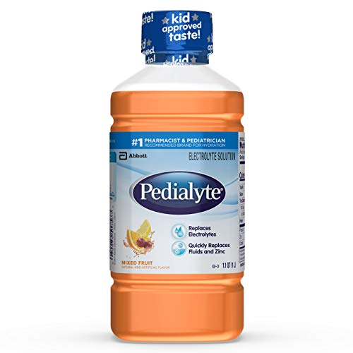 Pedialyte Electrolyte Solution, Hydration Drink, 1 Liter, 8 Coun...