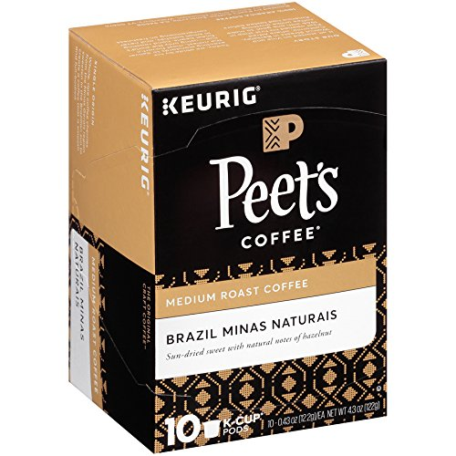 Peets Coffee Brazil Minas Naturais Blend Single Cup Coffee for ...