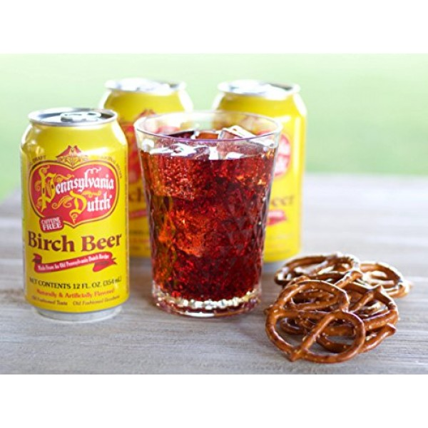 Pennsylvania Dutch Birch Beer, 12 Ounce Can Pack of 12