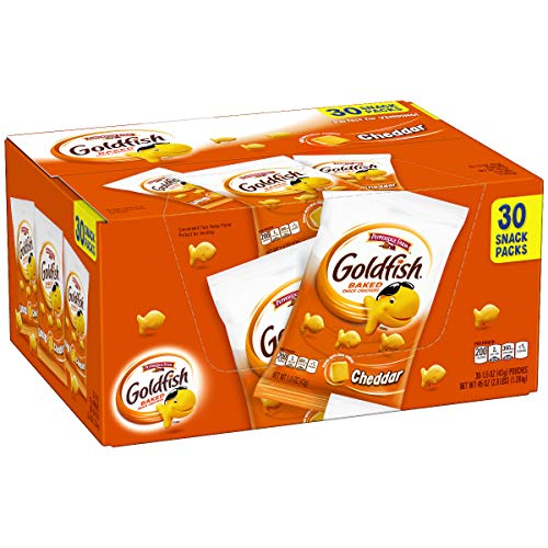 Pepperidge Farm Goldfish Cheddar Crackers, 45 oz. Multi-pack Box...