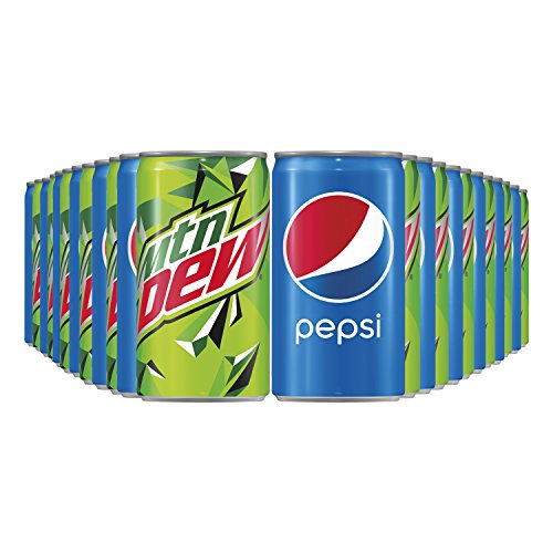 Pepsi and Mtn Dew Mini Can Variety Pack, 7.5 oz Cans, 24 CountP...