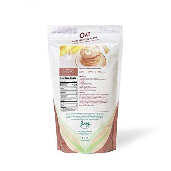 Multi-Purpose Oat Flour 14 oz - Made From Fresh Whole Grain Oa...
