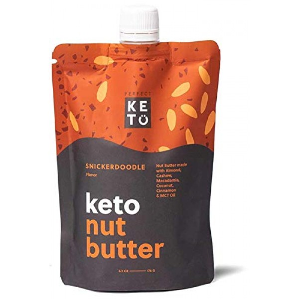 Perfect Keto Nut Butter Snack: Fat Bomb to Support Weight Manage...