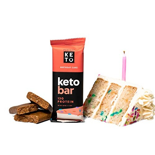Perfect Keto Protein Snacks - Box of 12 Bars - Low Carb Diet Fri...