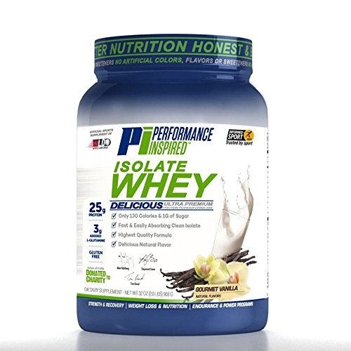 Performance Inspired Nutrition Isolate Whey Protein, 2 lb, Gourm...
