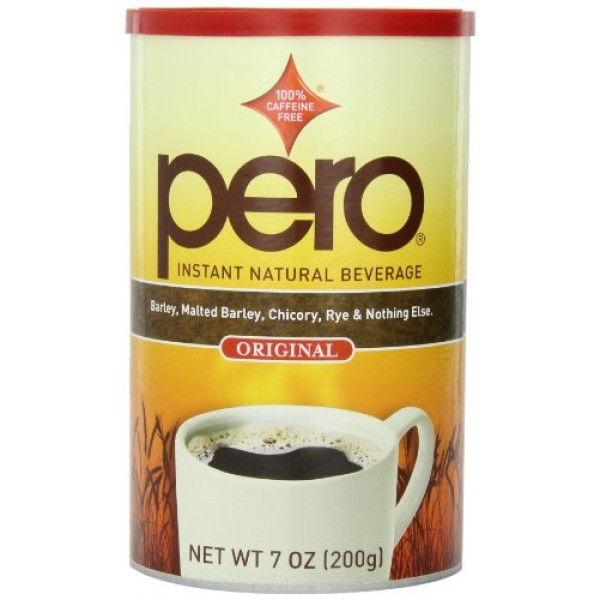 Pero Instant Natural Beverage, 7-Ounce Canisters Pack of 6