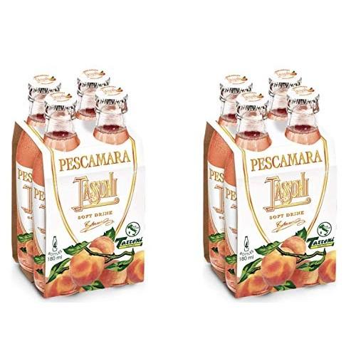 Tassoni Pesca Amara Italian Peach flavored Soda 8-Pack - 6 fl....