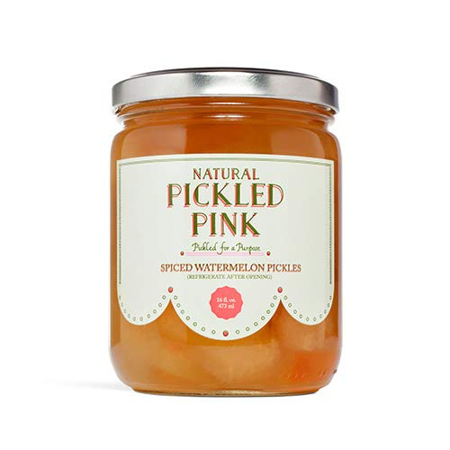 Pickled Pink Foods, Spiced Watermelon Pickles, 16 oz
