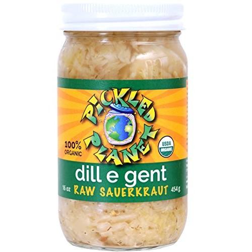 Organic Raw Sauerkraut, Dill E Gent Variety, 16 Oz Glass Jar