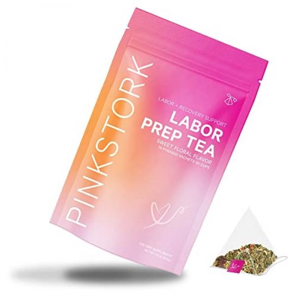 Pink Stork Labor Prep: Sweet Floral Red Raspberry Pregnancy Tea,...