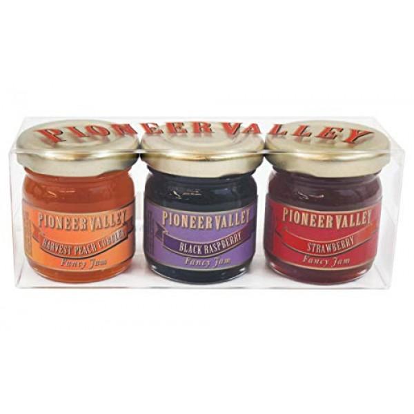 Pioneer Valley Gourmet Mini Jam Sampler Variety 3 Pack 1.5oz Eac...