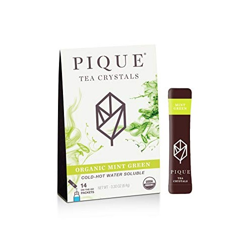 Pique Organic Mint Sencha Green Tea Crystals, Gut Health, Fastin...