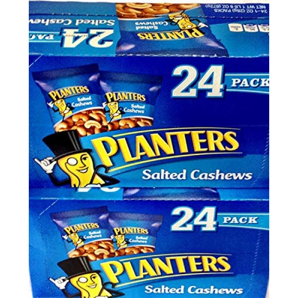 Planters Salted Cashews, 1 oz, 24 ct Pack of 2