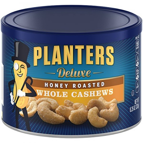 Planters Deluxe Whole Cashews Honey Roasted, 8.25 ozPack of 3