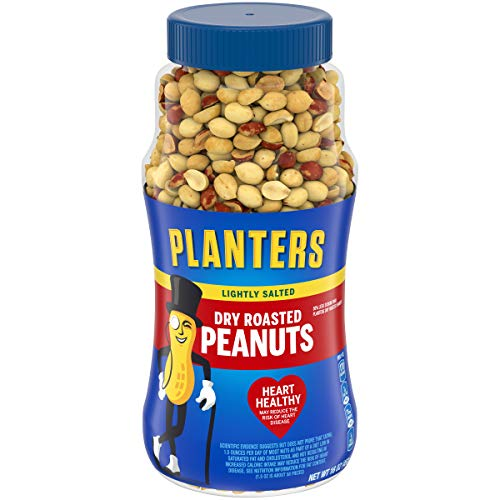 Planters Dry Roasted & Lightly Salted Peanuts 16 oz Canister
