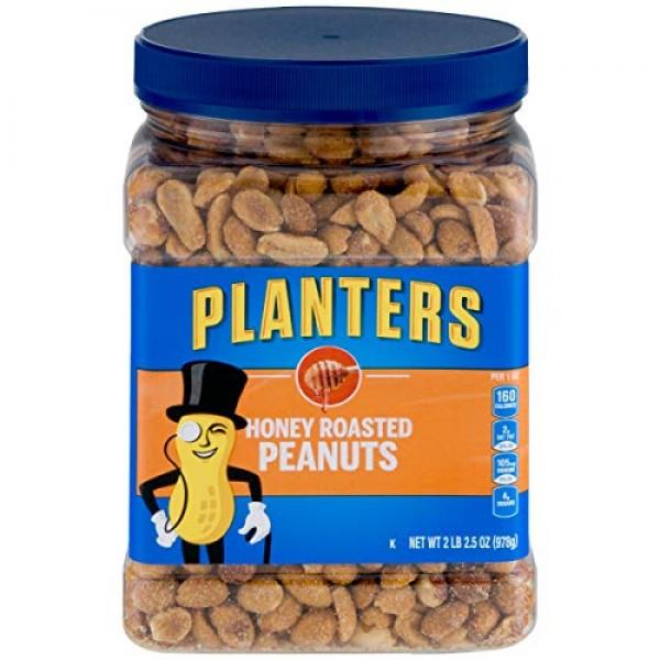 Planters Honey Roasted Peanuts 34.5oz, Pack of 2
