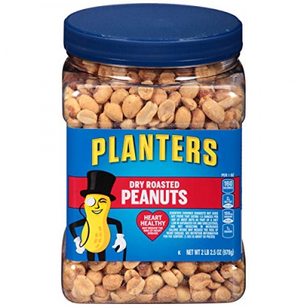 Planters Dry Roasted Peanuts 34.5oz, Pack of 3