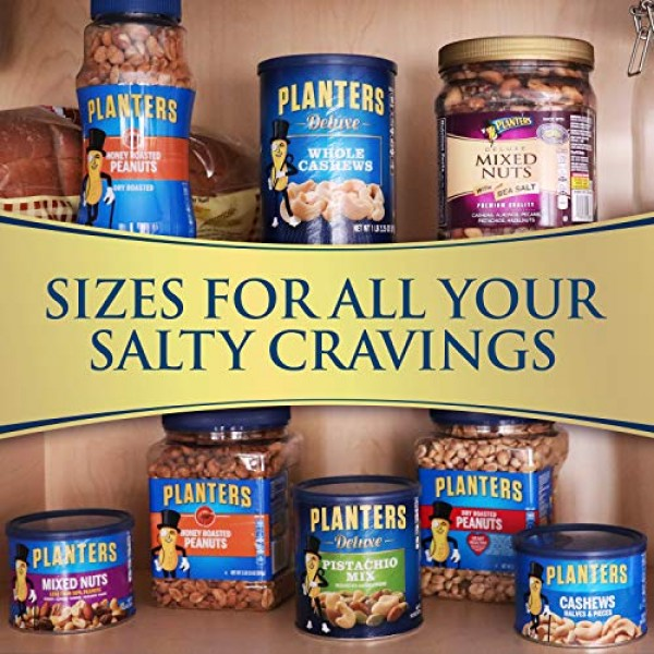 PLANTERS Deluxe Salted Mixed Nuts, 34 oz. Resealable Canister - ...