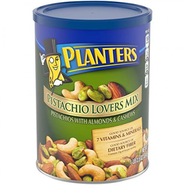 PLANTERS Pistachio Lovers Mix, 1.15 lb. Resealable Canister - D...