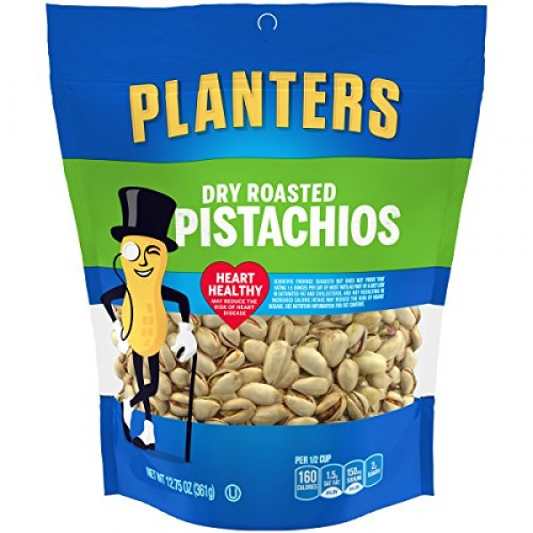Planters Spiced Dry Roasted Pistachios 12.75 Ounce Pack of 3