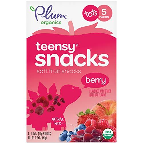 Plum Organics Teensy Fruits, Organic Toddler Snack, Berry, 1.75 ...