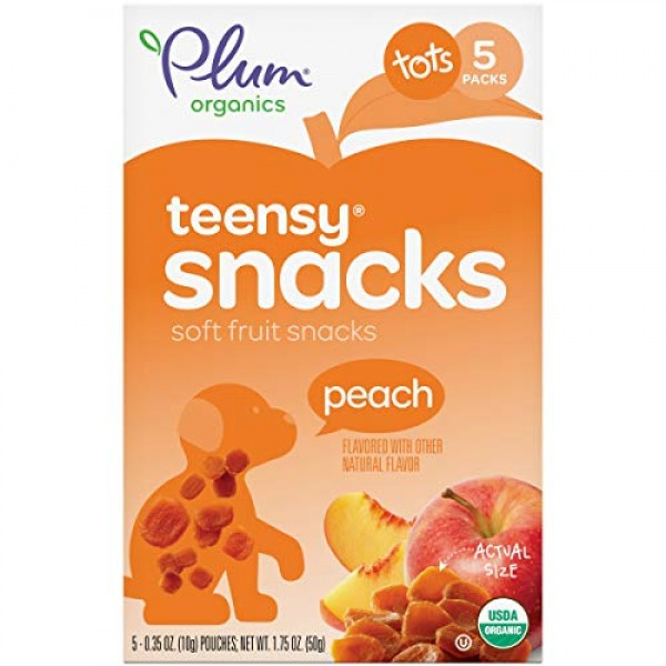 Plum Organics Teensy Fruits, Organic Toddler Snack, Peach, 1.75 ...