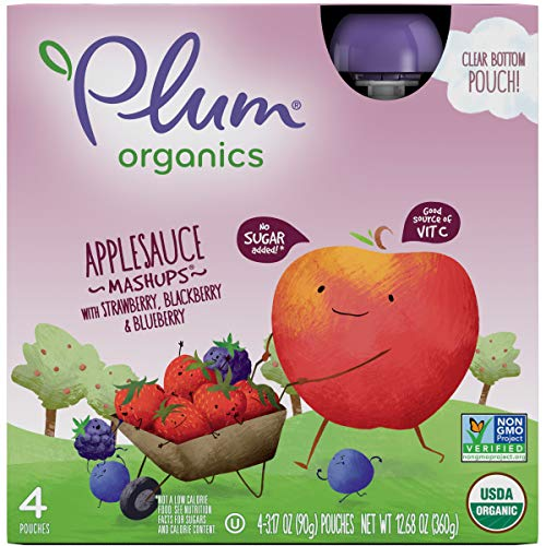 Plum Organics Mashups, Organic Kids Applesauce, Strawberry Black...