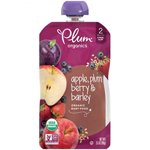 Plum Organics, Apple Plum Berry & Barley, 3.5 oz