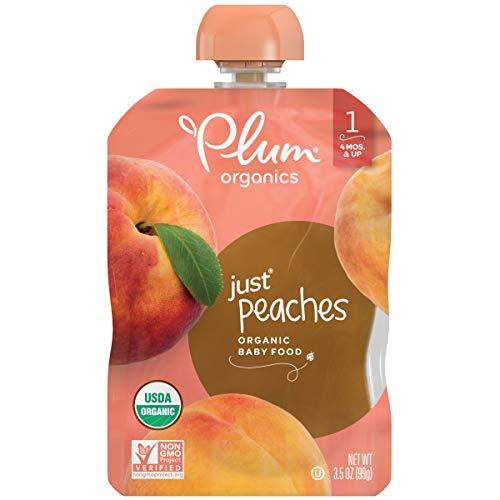 Plum Organics Stage 1 Organic Baby Food, Peach Puree, 3.5 Ounce ...