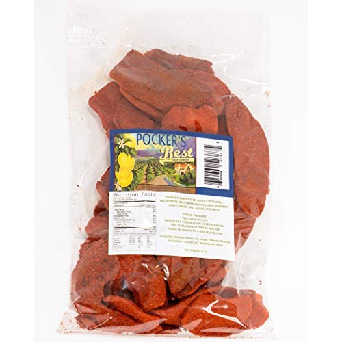 Pockers Best Chili Dried Mango Fruit Slices - Preserved Fruity,...