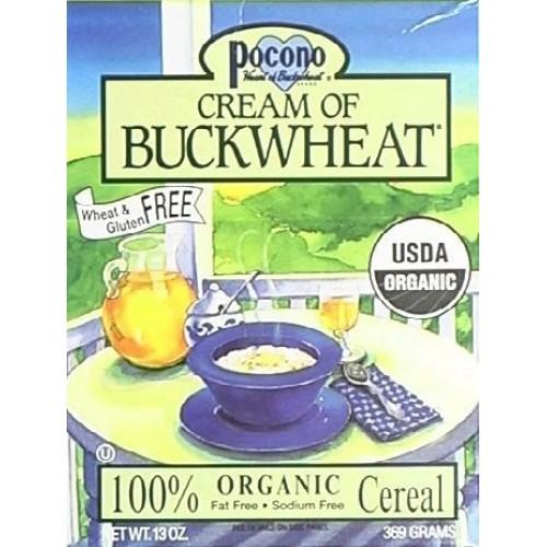 Pocono Organic Cream Of Buckwheat Cereal 13 Oz. Pack of 6
