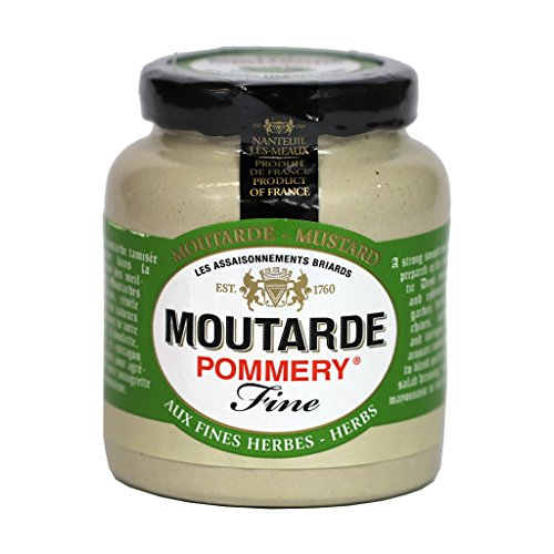 Pommery - French Dijon Mustard with Herbs Chives, Tarragon, Par...