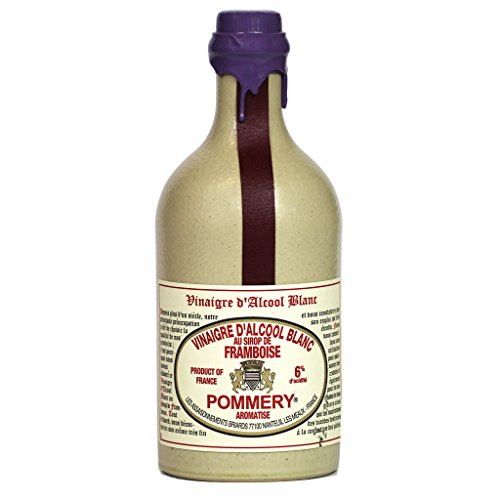 Pommery Aged White Wine Raspberry Flavored Vinegar in Stone Croc...