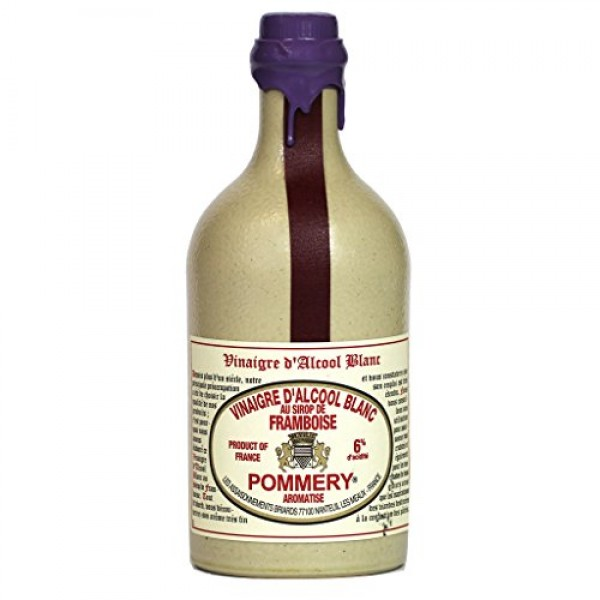 Pommery Raspberry Flavored White Wine Vinegar in a Sandstone Bot...