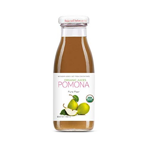 POMONA Organic Pure Pear Juice, 8.4 Ounce Bottle Pack of 12, C...