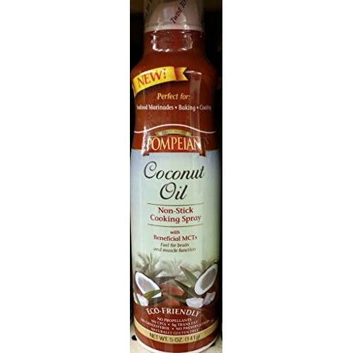 Pompeian Coconut Oil Non-Stick Cooking Spray 5 Oz Pack of 2