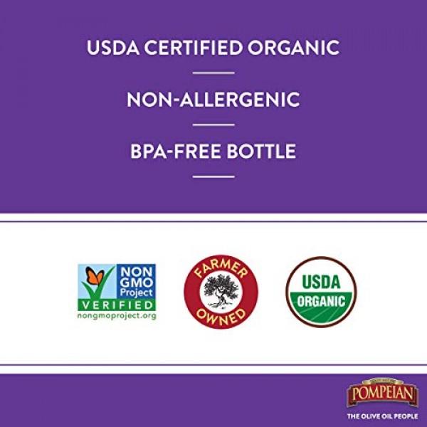 Pompeian Gourmet Organic Red Wine Vinegar, Unfiltered & Unpasteu...