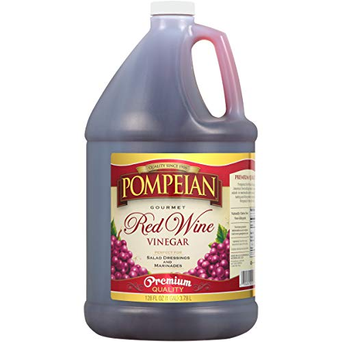 Pompeian Red Wine Vinegar - 128 Ounce Pack of 4
